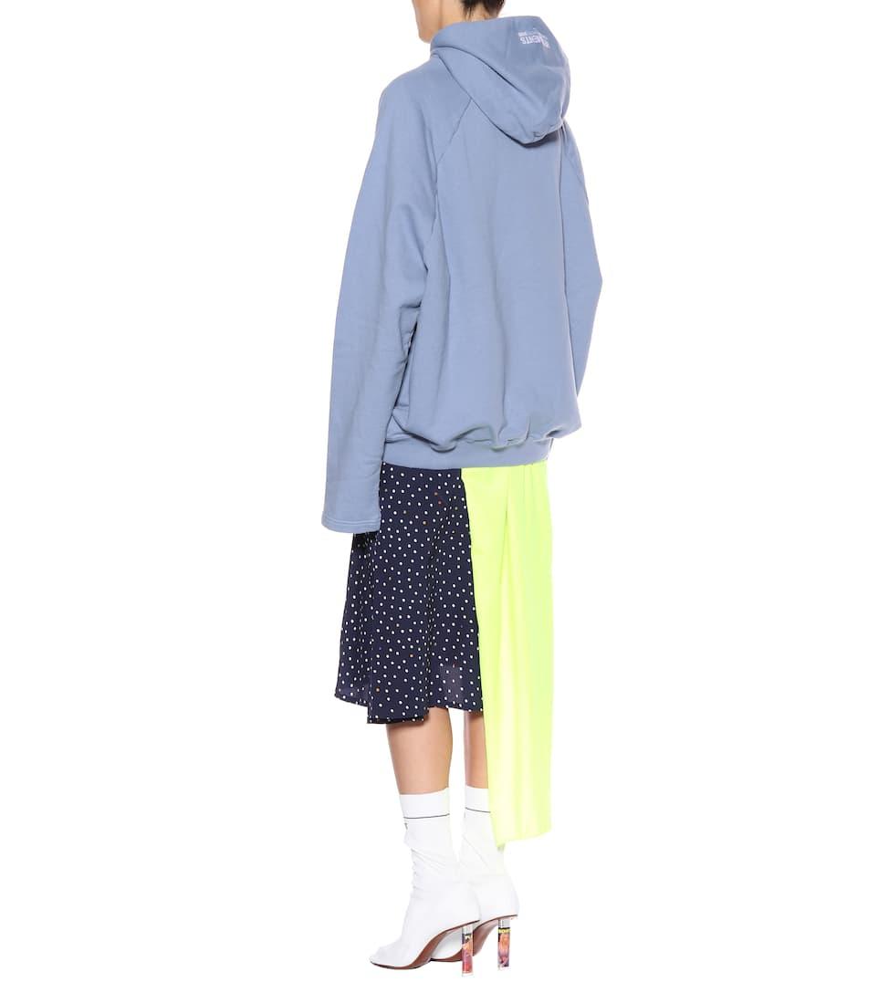 Billig Verkaufen Mode-Stil Vetements Oversize-Hoodie mit Baumwollanteil Günstig Kaufen Offiziellen Rabatt 2018 Unisex Auslass 100% Garantiert Zum Verkauf Günstigen Preis wzKtXl