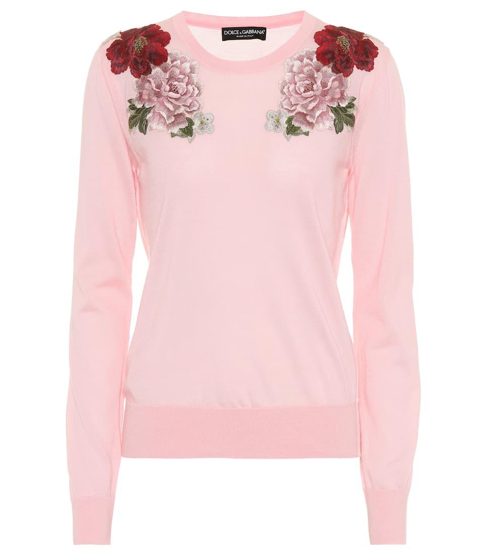 Dolce & Gabbana Pullover aus Cashmere mit Stickerei