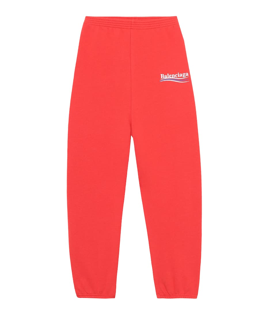 Kids' Cotton-Blend Trackpants in Rouge