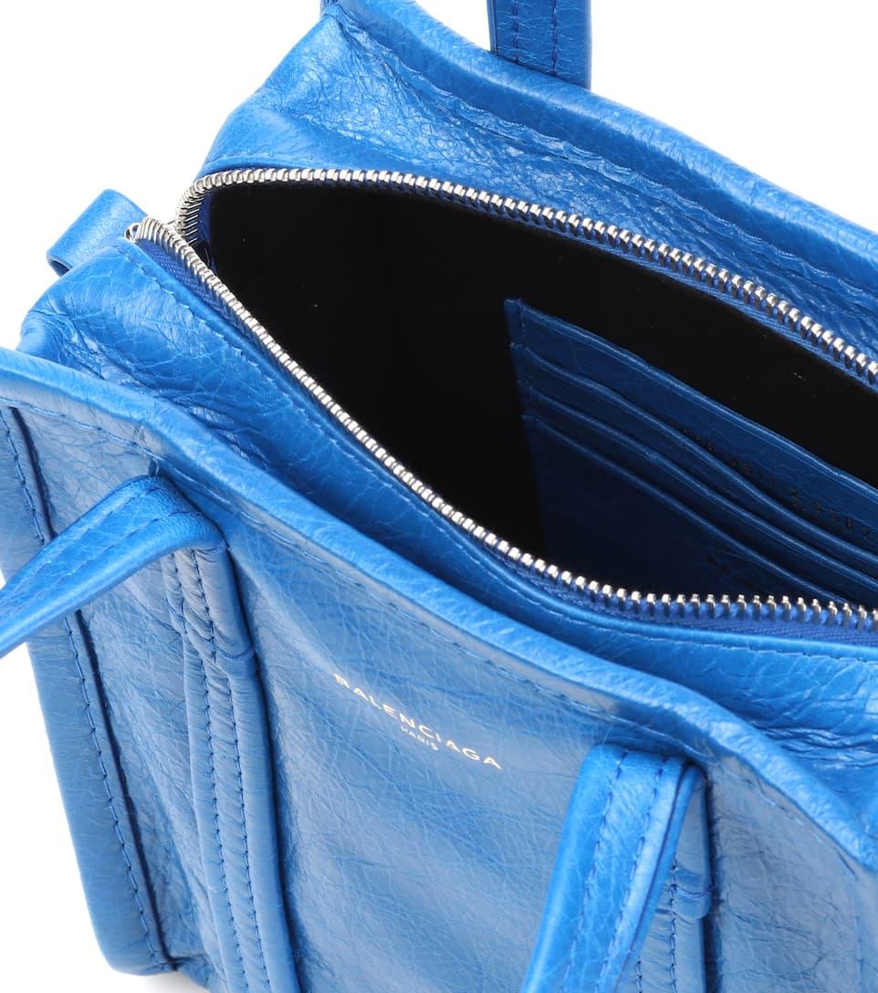 Lazuli XXS shopper Bazar Bleu Balenciaga cuero Xaqw5f