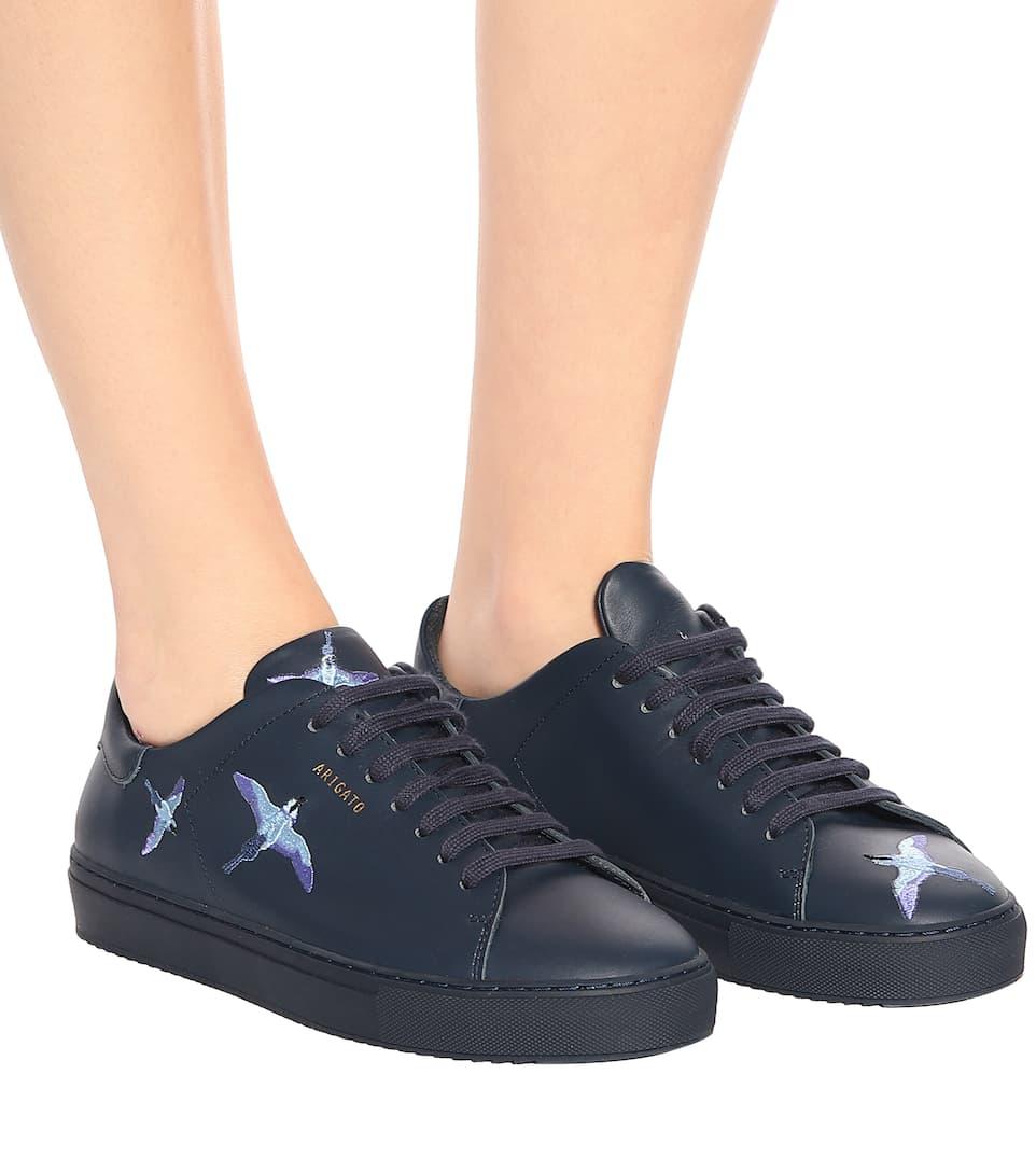 Arigato Ricami Pelle Clean In 90 Axel Con Sneakers HO0vq8wxO