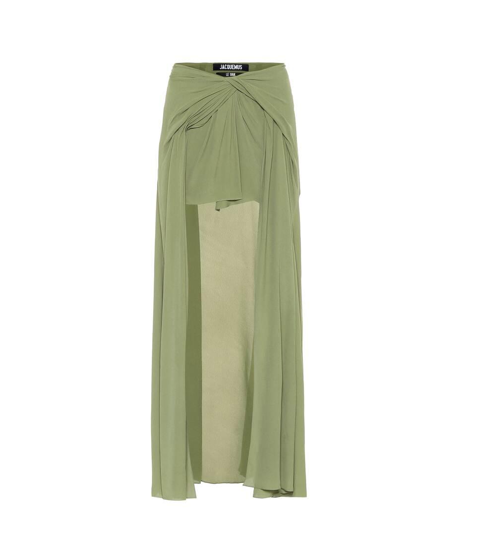 98ad56b87 Shoptagr | Sahil Draped Skirt by Jacquemus