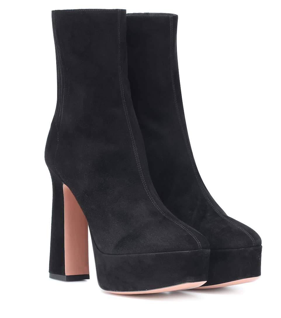 Saint Honore 125 Suede Ankle Boots - Aquazzura  879f8a1707d0d