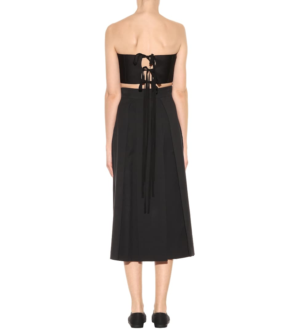 Collections Cheap Online The Row Mab silk bustier top Black Largest Supplier Outlet Exclusive IikuCu