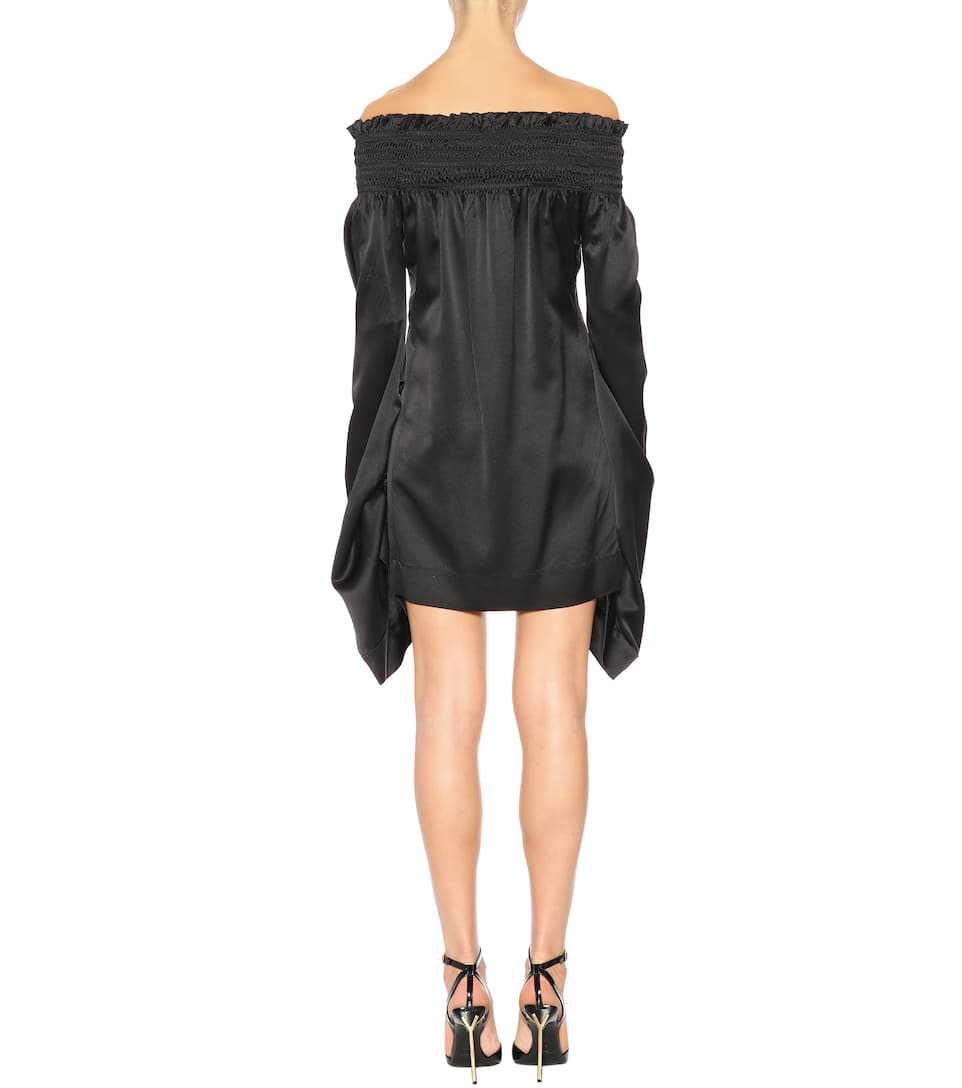 Saint Laurent Off-Shoulder-Kleid aus Satin