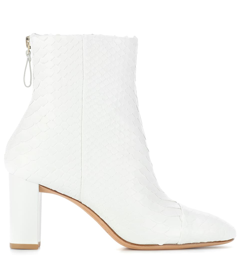 Alexandre Birman Ankle Boots Python Skin