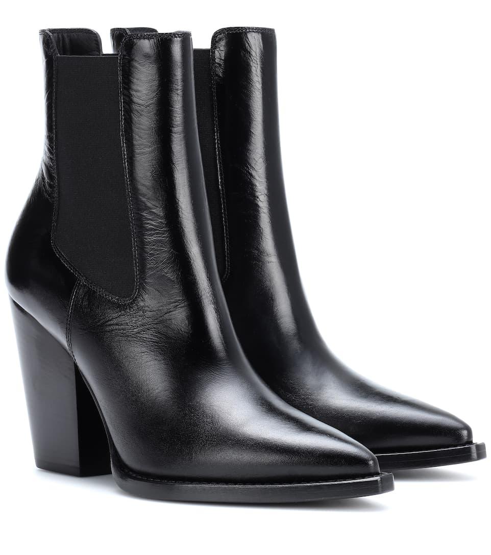 Saint Laurent Ankle Boots aus Leder