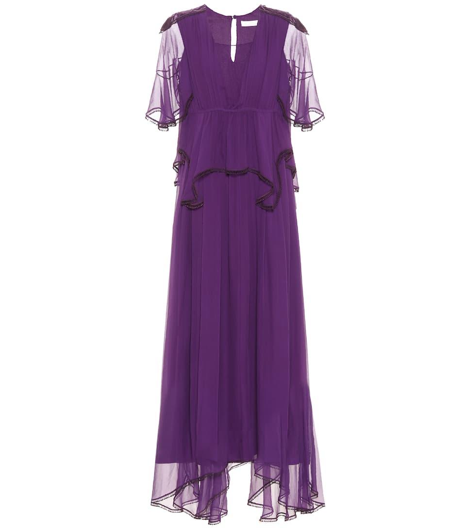 Chloé - Robe longue en soie