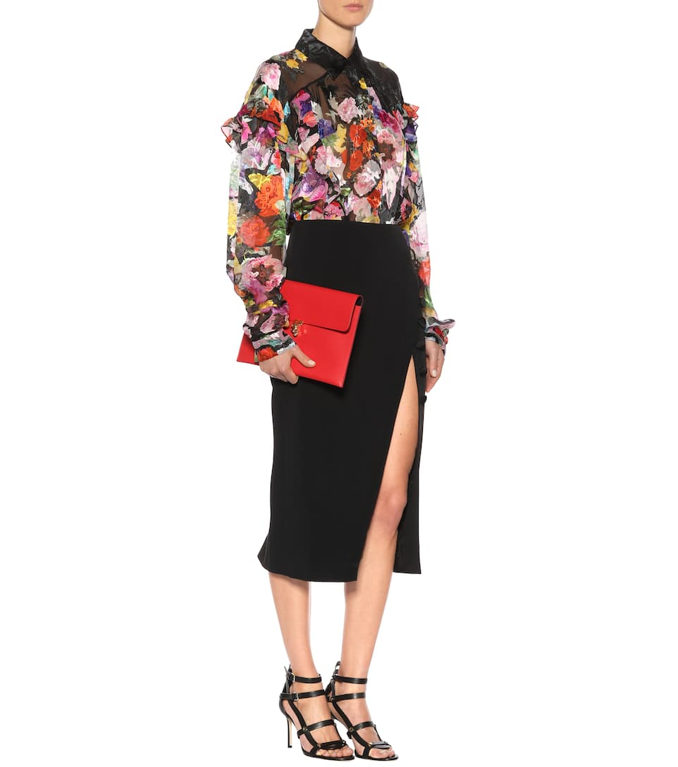 Preen by Thornton Bregazzi Miranda silk-blend blouse Decoupage Latest Cheap Price 100% Original Online Clearance Online Cheap Real Cheap Sale Recommend Latest Collections Cheap Online nczrD0