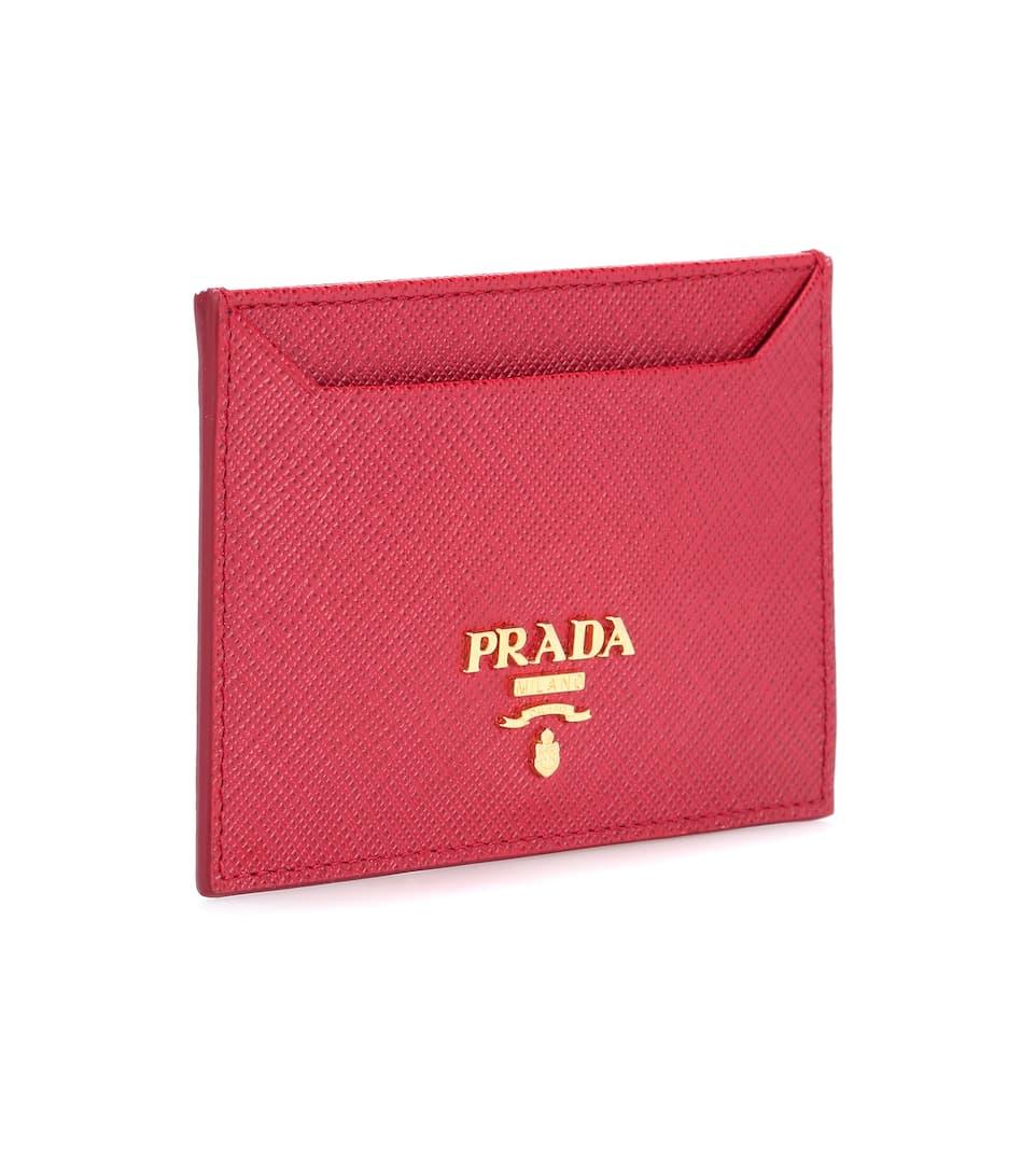 Saffiano Leather Card Holder - Prada | mytheresa