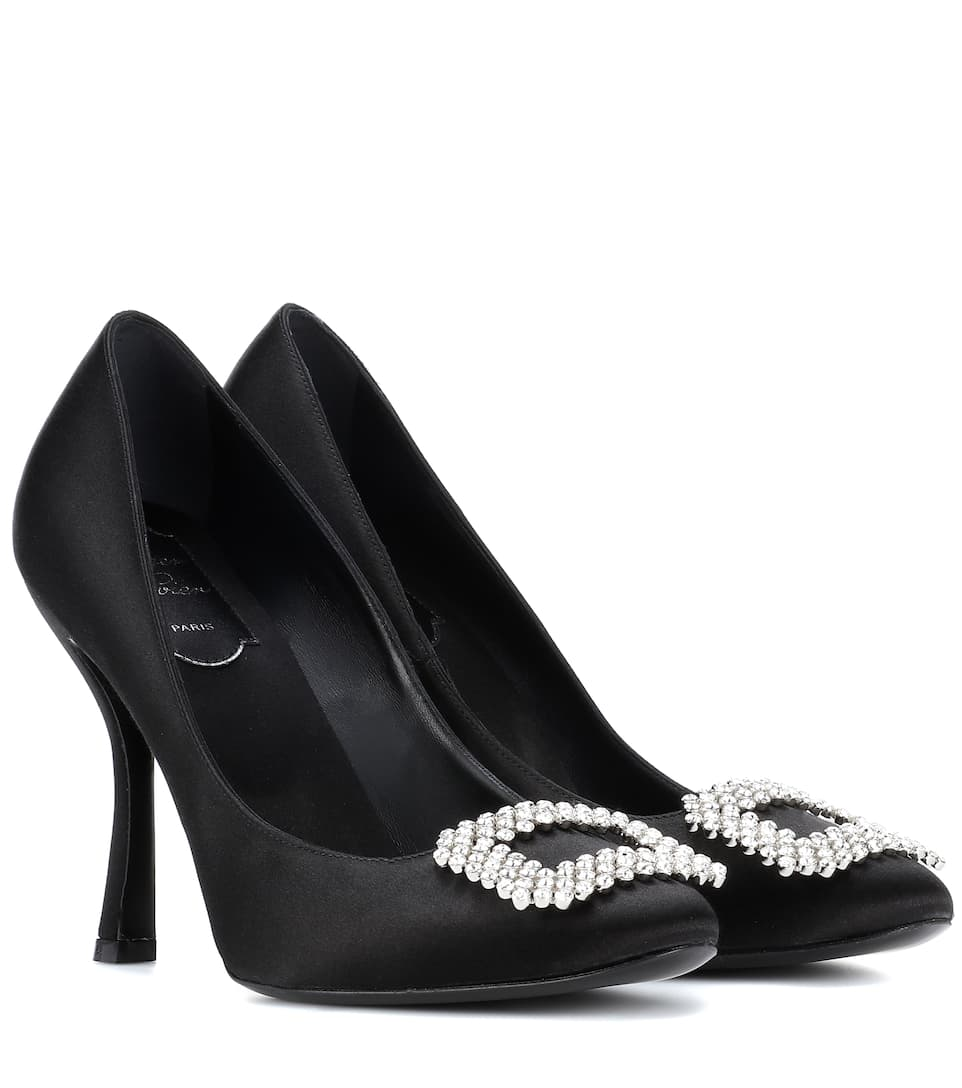 Escarpins En Satin À Ornement - Roger Vivier