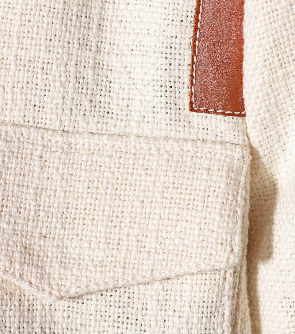 Altuzarra Blazer Avenue aus Baumwolle mit Leder