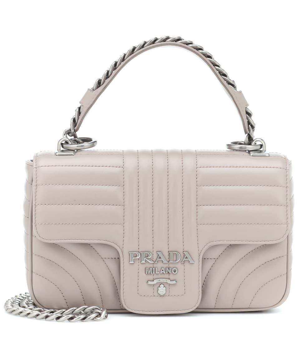 5f49bc727301 Diagramme Leather Shoulder Bag - Prada   mytheresa.com
