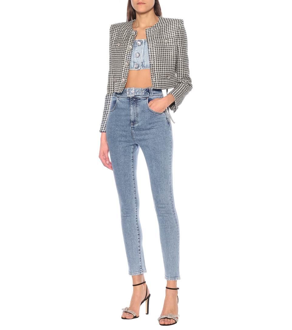 Alessandra Rich - Jeans skinny a vita alta stretch