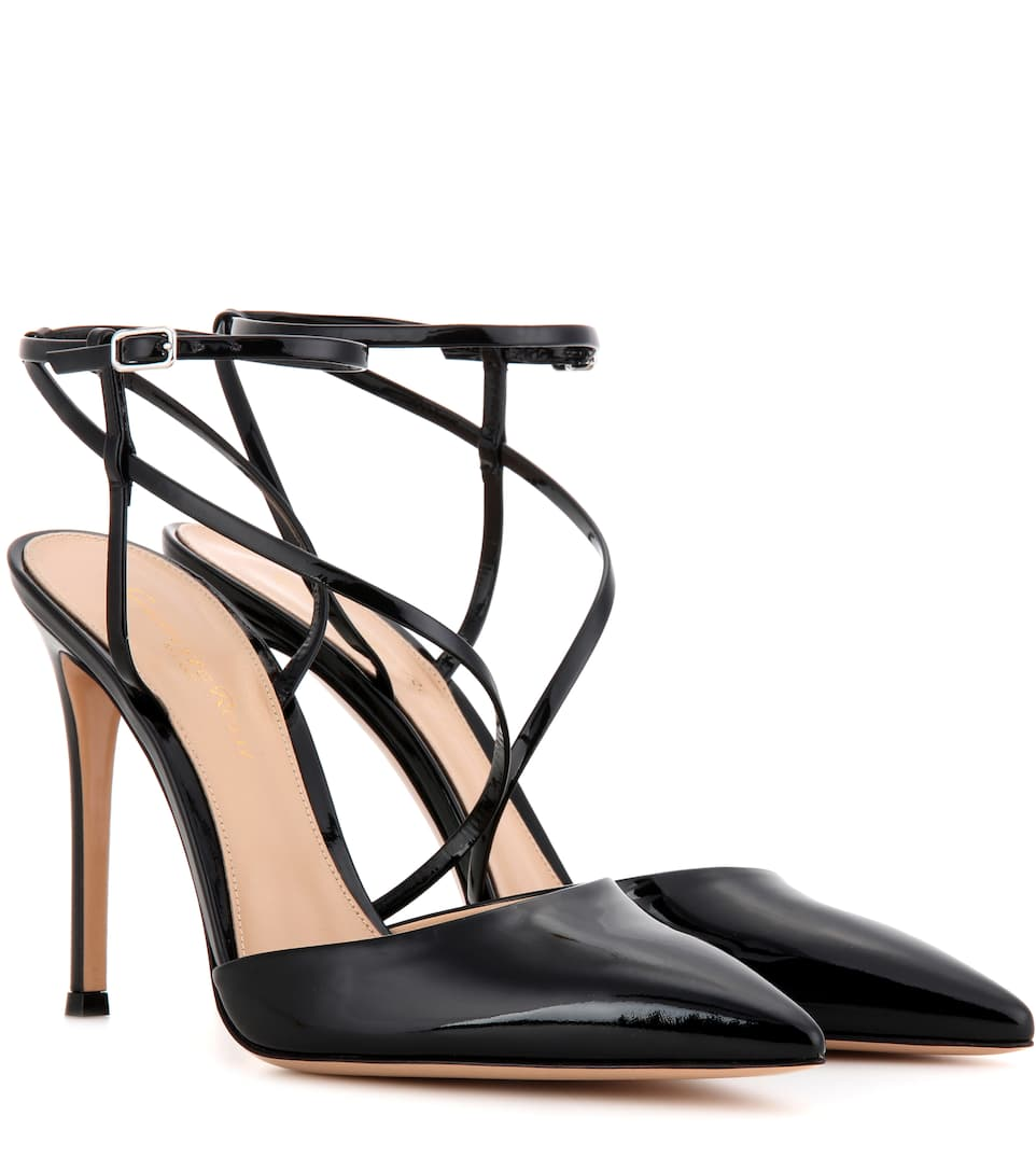 Gianvito Rossi Carlyle patent leather pumps