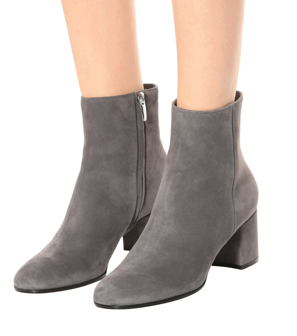 Gianvito Rossi Ankle Boots Margaux Mid aus Veloursleder