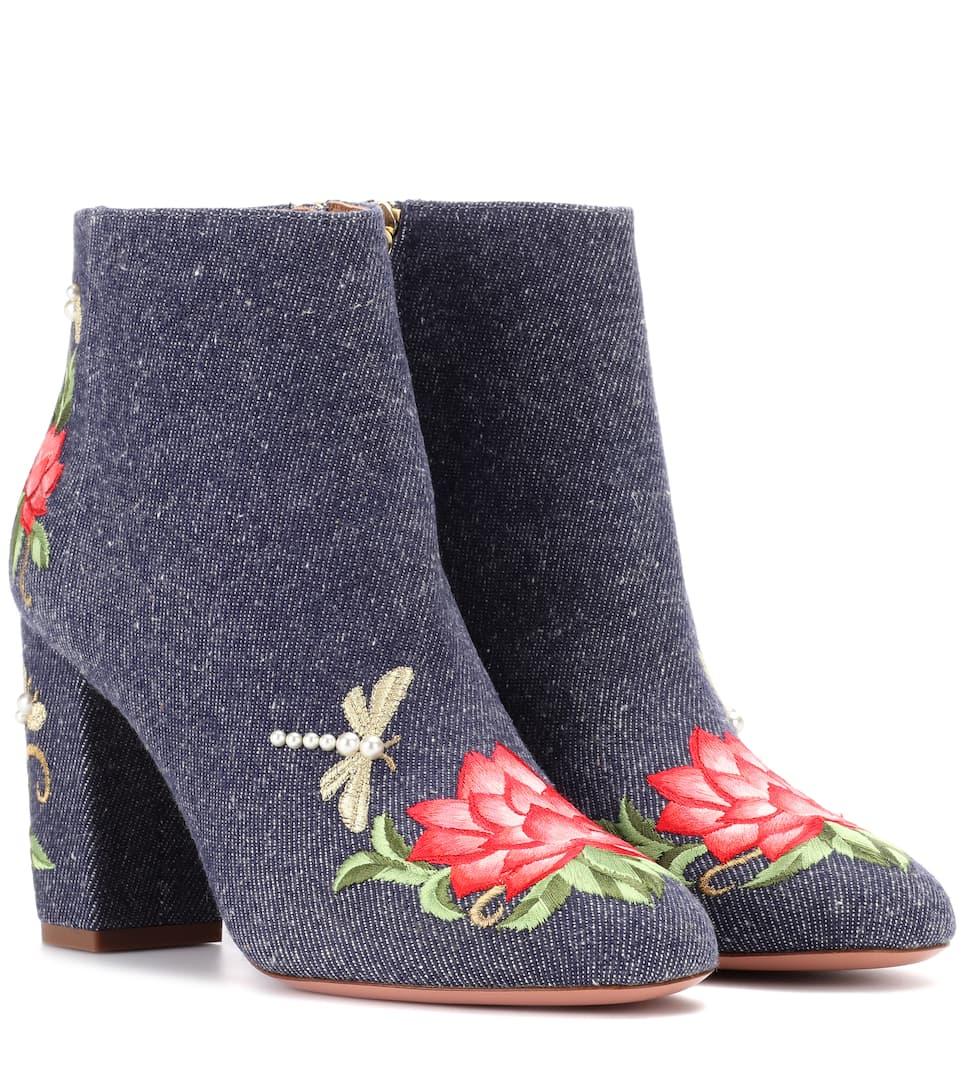 Lotus 85 denim ankle boots Aquazzura wvWIdRl