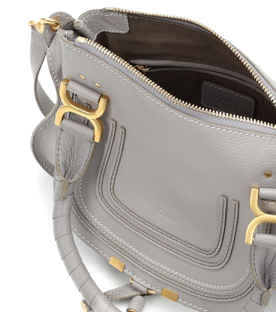 Clearance Nicekicks Chloé Marcie Small leather shoulder bag Cashmere Grey Shopping Online Original dRGBIrRXMu