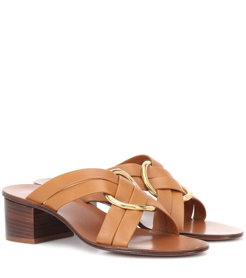 RONY LEATHER SANDALS