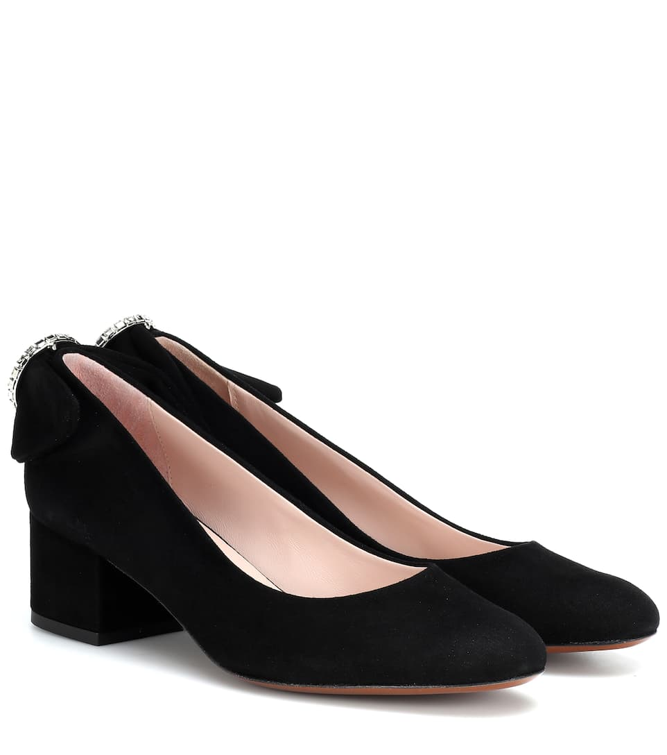 Embellished Suede Pumps by Alexa Chung