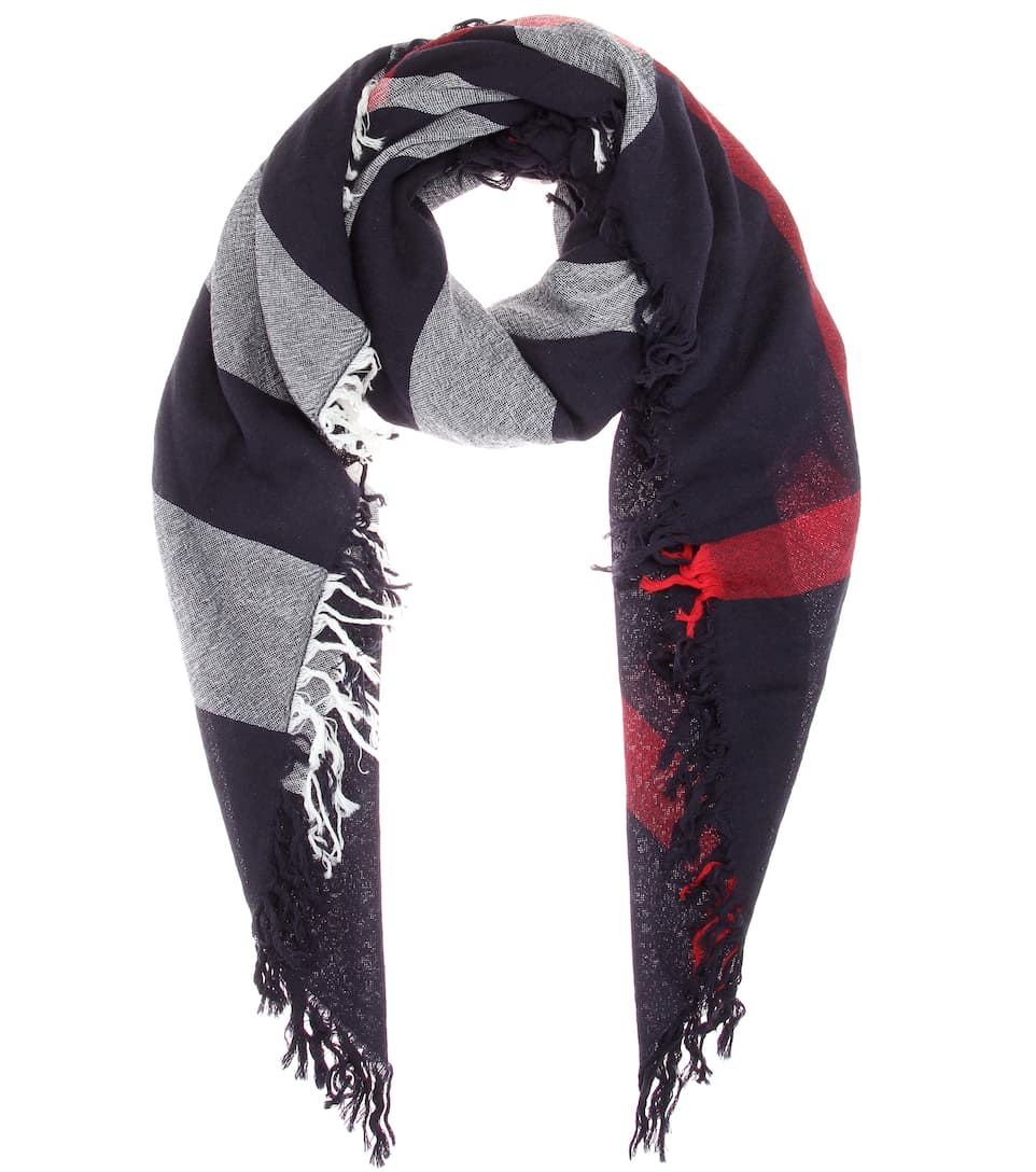 Burberry Karierter Schal aus Merinowolle