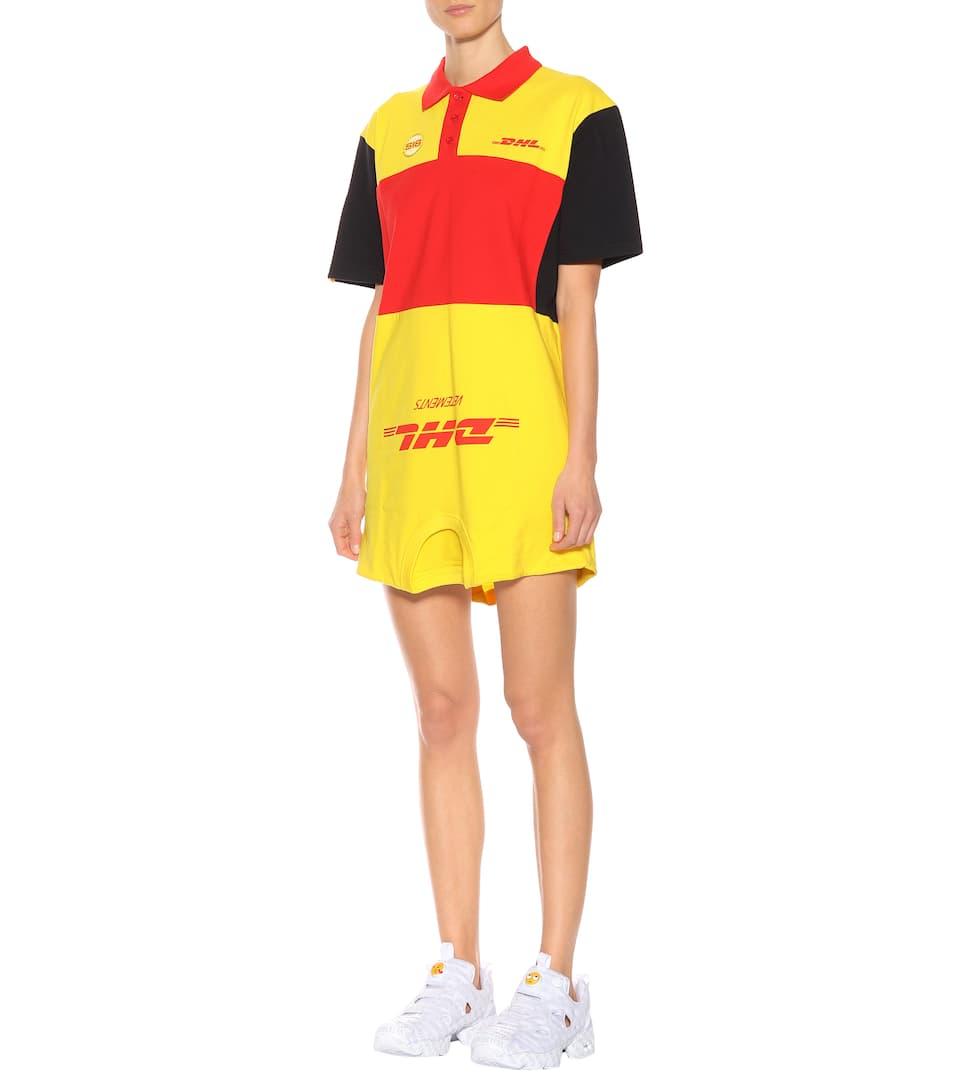 Vetements Minikleid DHL aus Baumwolle