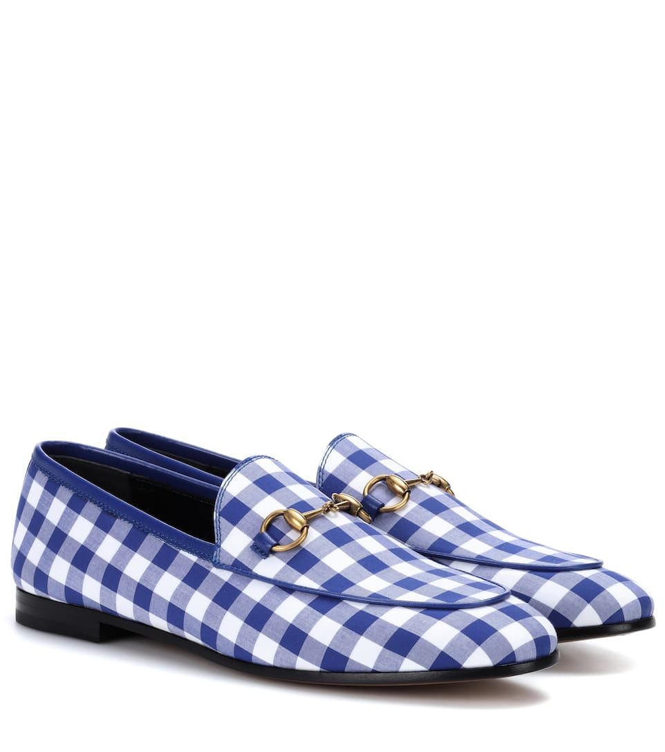 Blue Gingham Jordaan Loafers