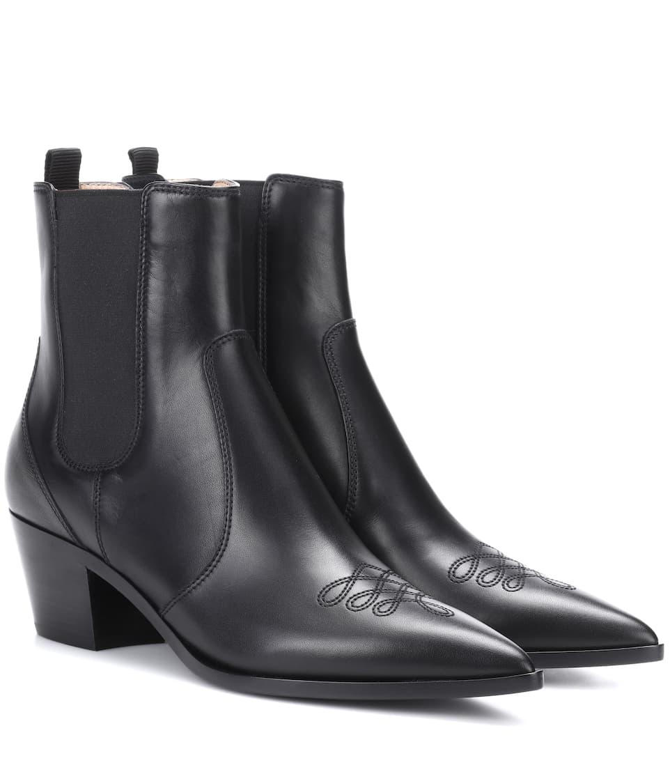 Gianvito Rossi Ankle Boots Austin aus Leder