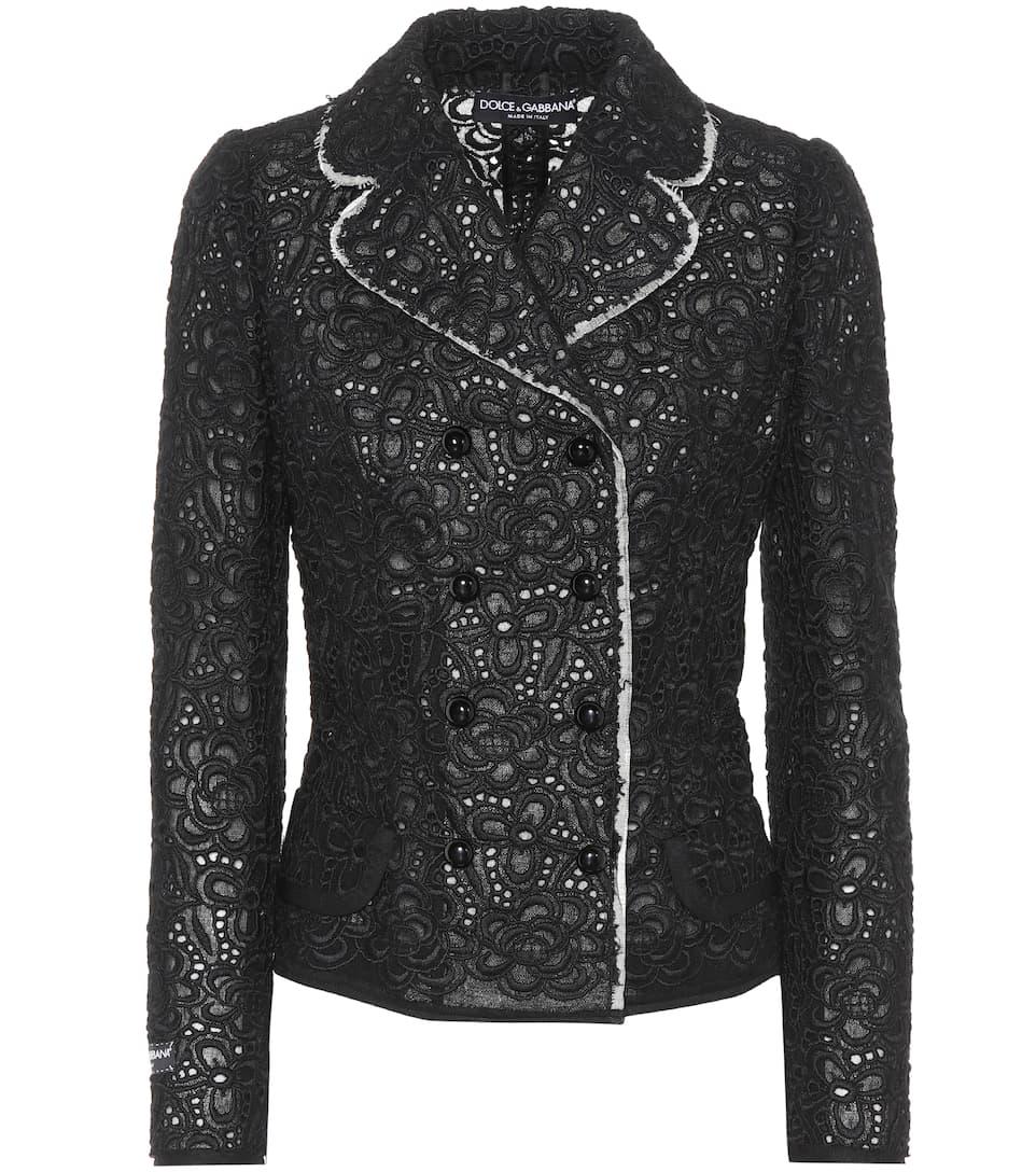 Dolce & Gabbana Blazer aus Spitze mit Wollanteil