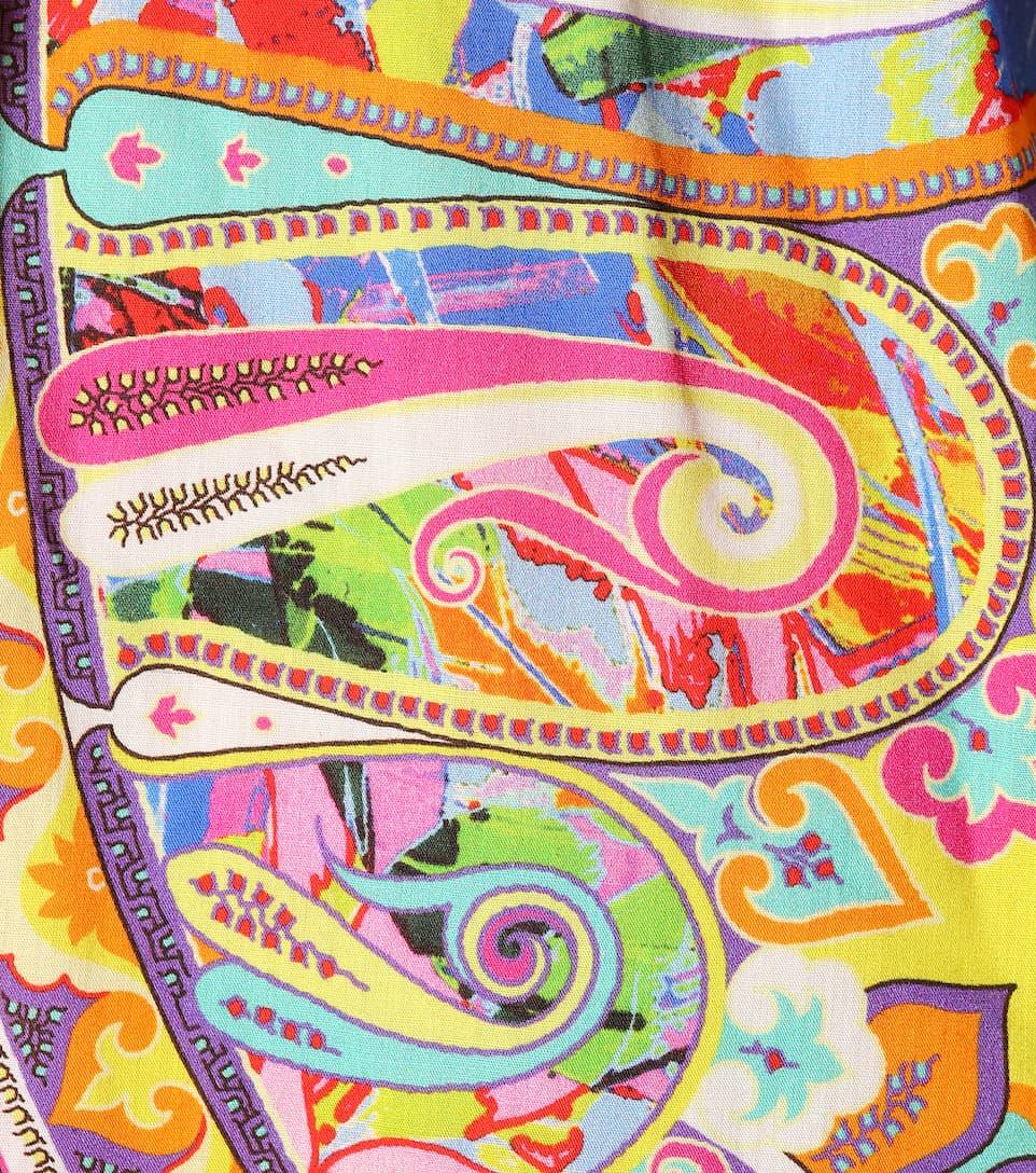 Etro Bedrucktes Maxikleid aus Baumwolle