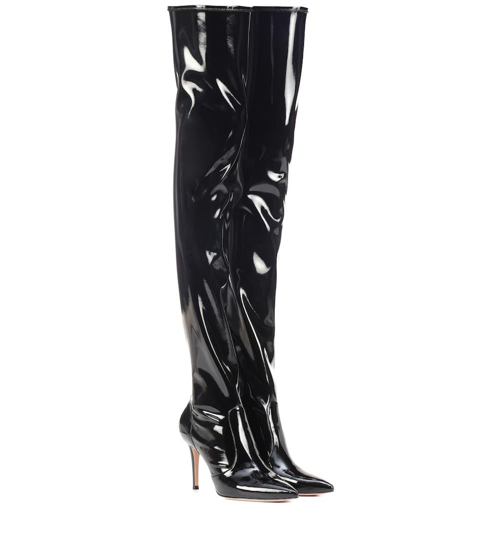 d63f3cadb59 Gianvito Rossi - Imogen vinyl over-the-knee boots