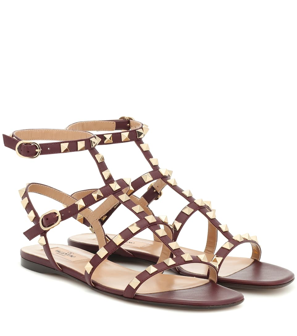 5ce7be6ae Valentino Garavani Rockstud Leather Sandals | Mytheresa