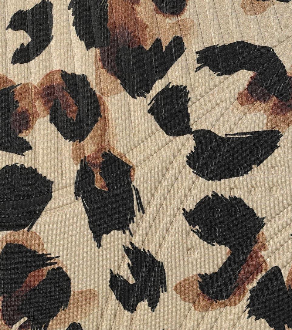 Mugler - Leopard-print compression biker shorts