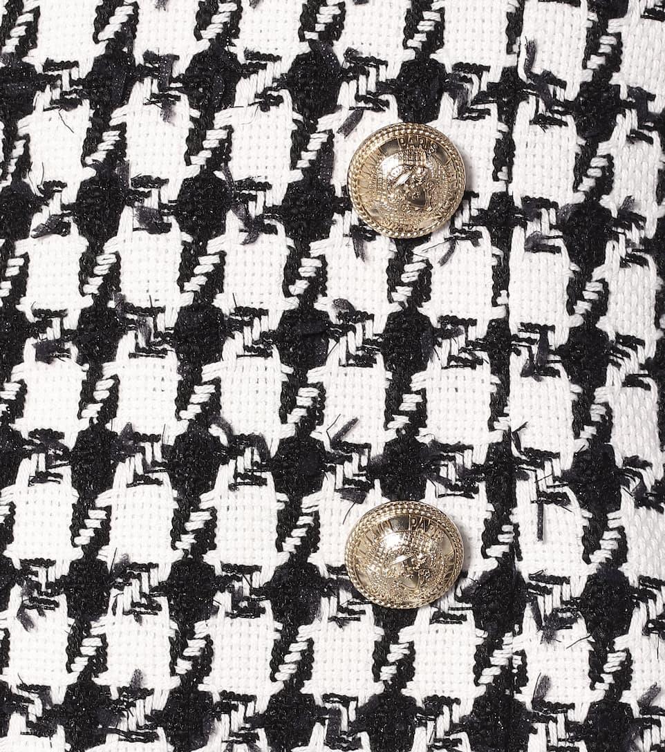 Houndstooth Cotton-Blend Coat | Balmain - Mytheresa