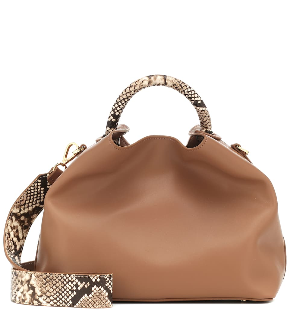 Elleme Papillon Small Leather Tote Bag In Neutrals