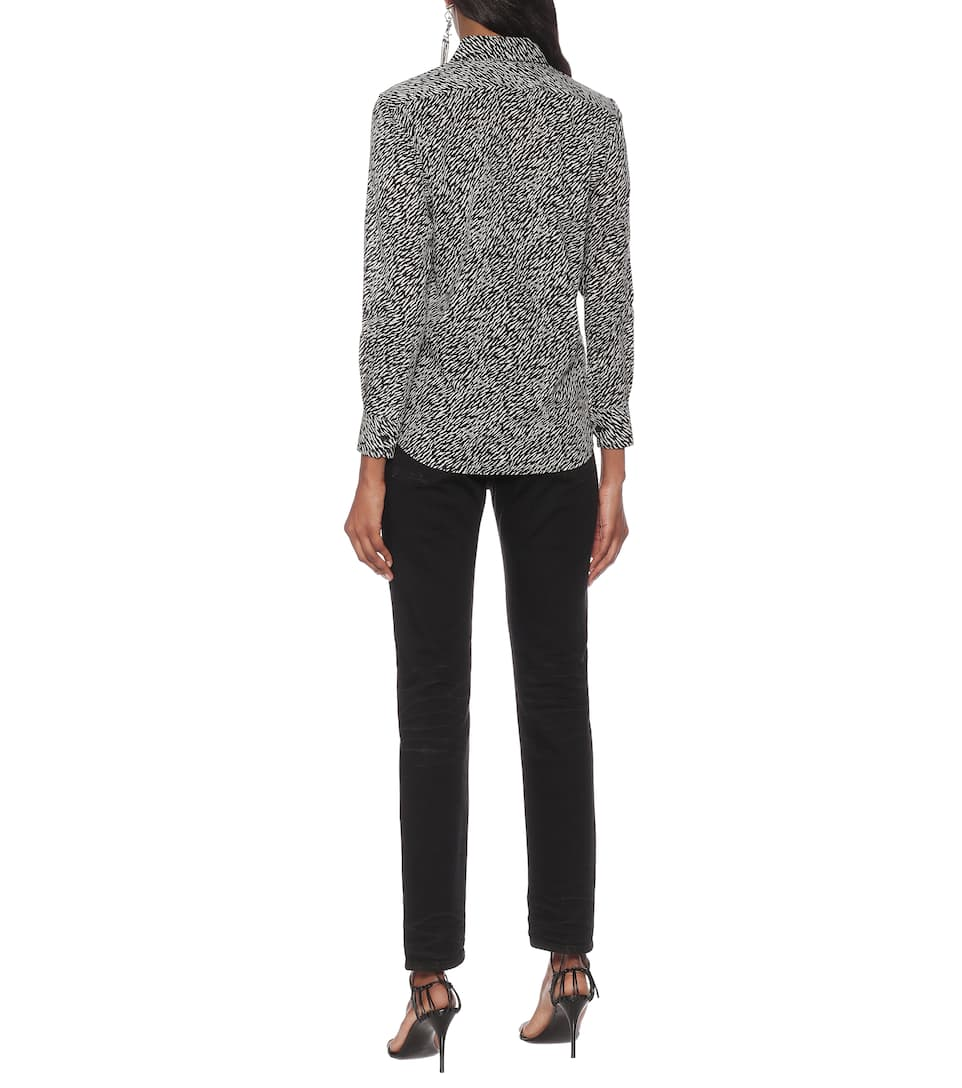 Saint Laurent - Printed cotton shirt