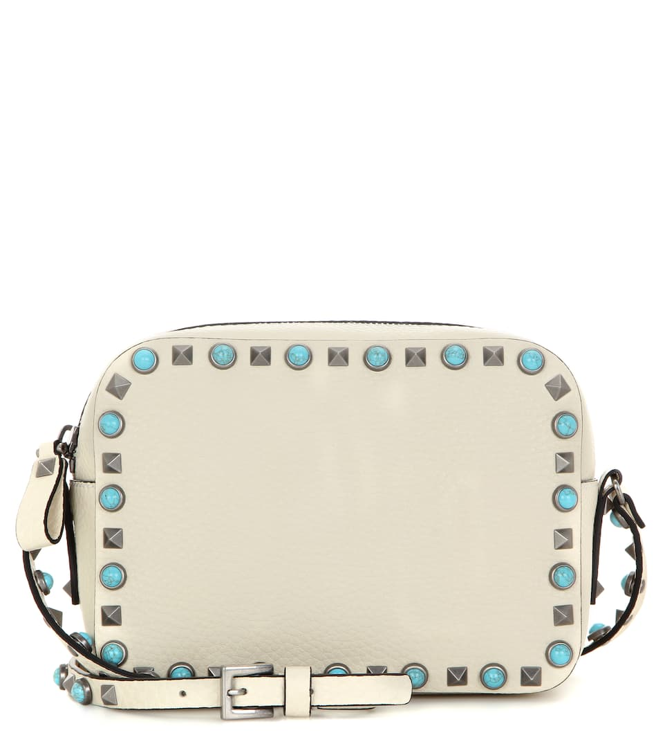 Valentino Rockstud Rolling leather cross-body bag