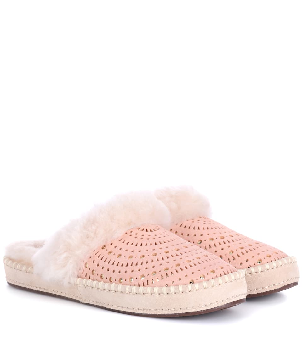 Shop For Online Top Quality Online Ugg Aira Sunshine suede slippers Taupe Perfect Sale Online Cheap Sale Store icuCv2