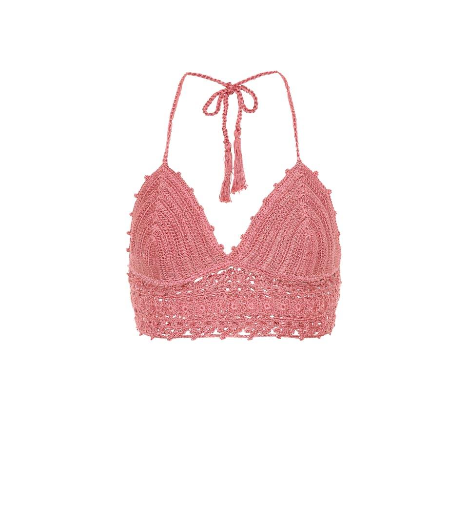 Anna Kosturova Crochet-bikini Top Darling Of Cotton