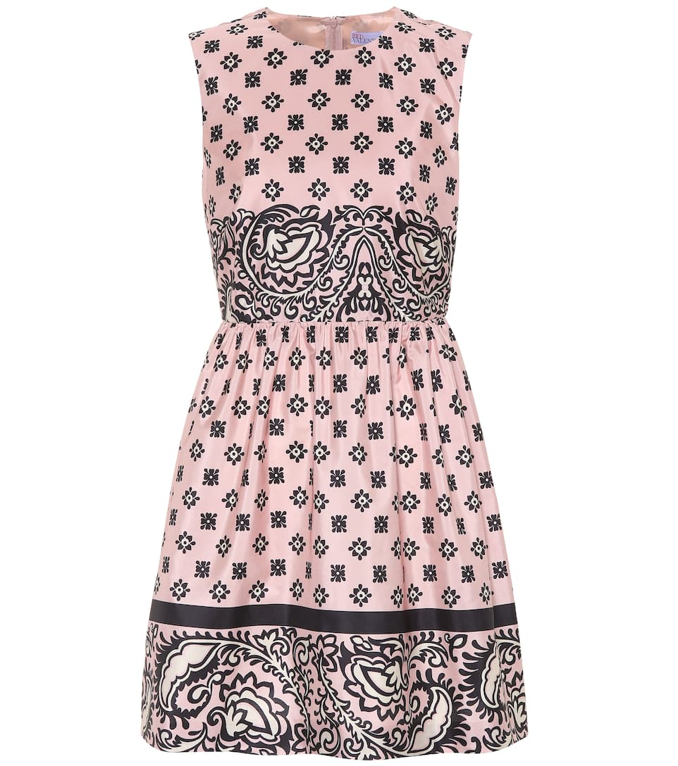 Floral Printed Satin Dress by Red Valentino