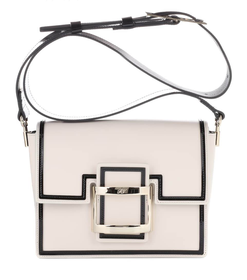 96b8b727786 Shoptagr | Viv Mini Graphic Leather Shoulder Bag by Roger Vivier