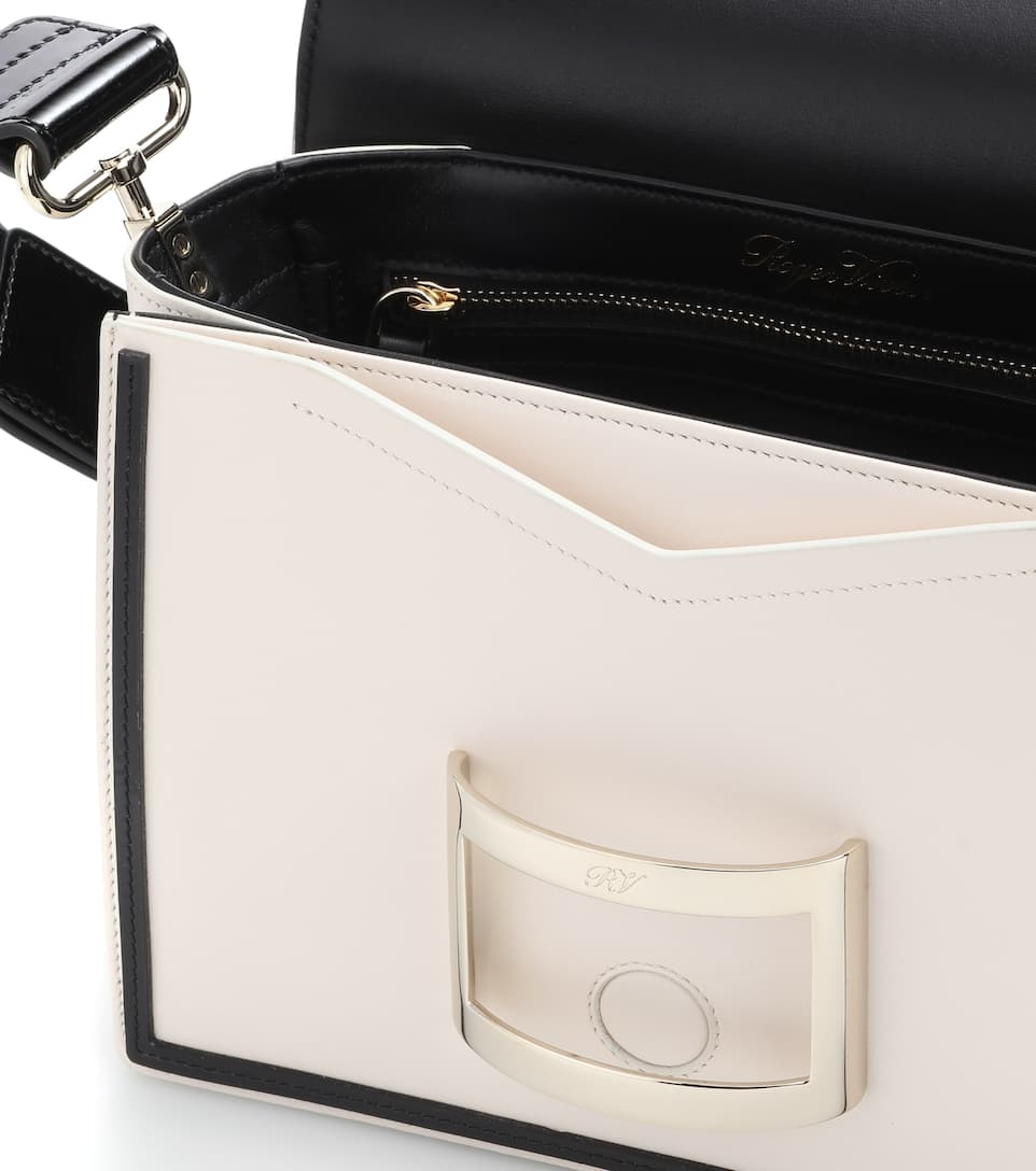 Roger Vivier Viv Mini Graphic leather shoulder bag Cream/Black Particular Discount Free Shipping Wholesale Price Cheapest Price Online Cheap Discount Sale Best Seller For Sale kC0CSPz