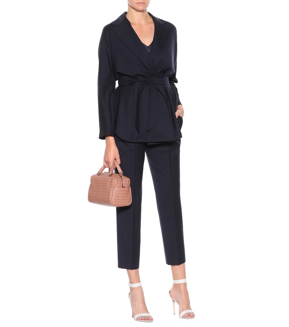 Comfortable For Sale Cheap Collections Max Mara Bessy wool jacket Navy Purchase For Sale Cheap Official Site Explore Sale Online 6gttNNm8