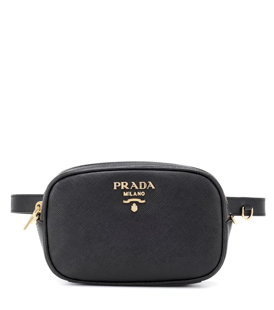 ae09b0a69dfe Shoptagr | Saffiano Leather Belt Bag by Prada