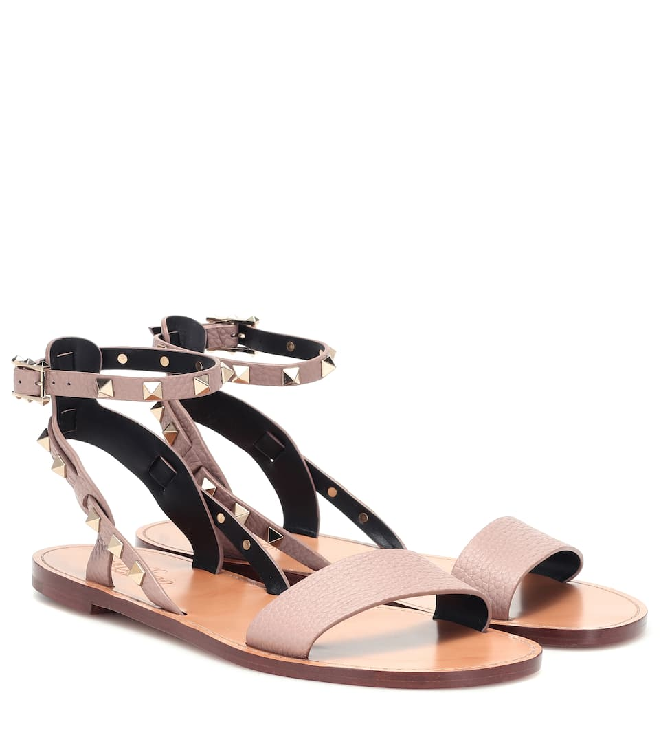 640df640d Valentino Garavani Rockstud Double Leather Sandals - Valentino | Mytheresa