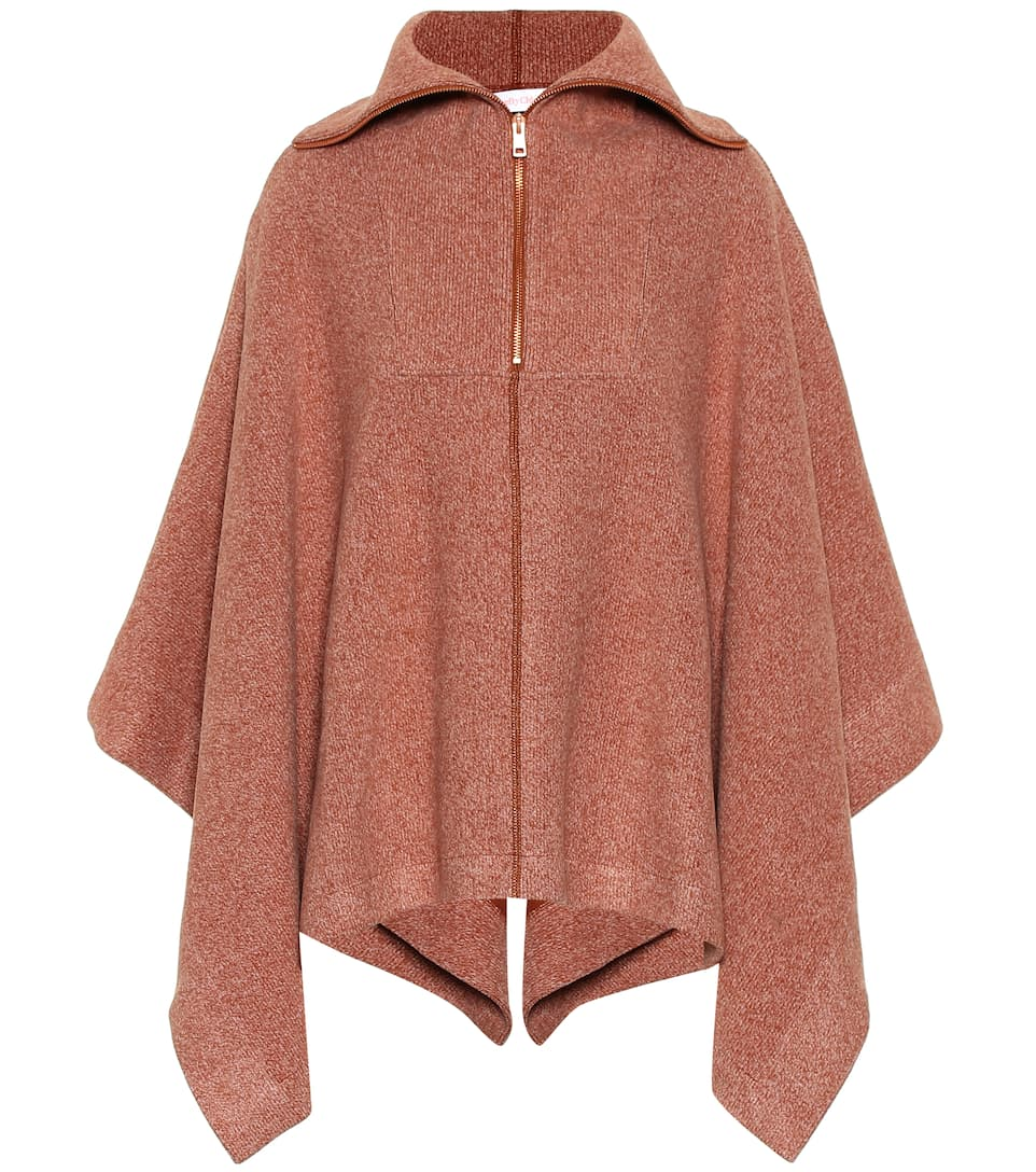 6d215794dc See By Chloé - Ribbed cotton-blend cape | Mytheresa