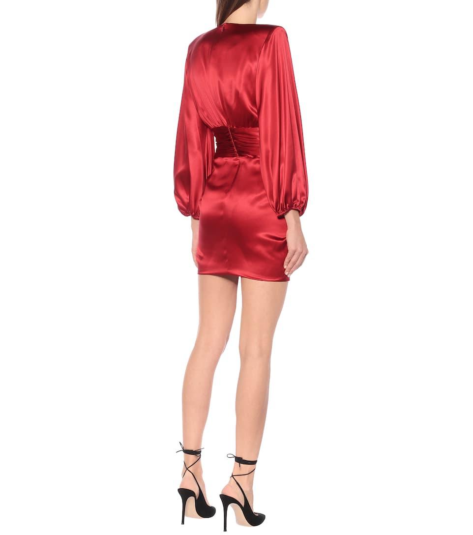 Alexandre Vauthier - Stretch silk-satin dress