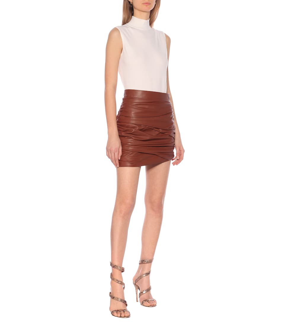 Zeynep Arçay - Leather miniskirt