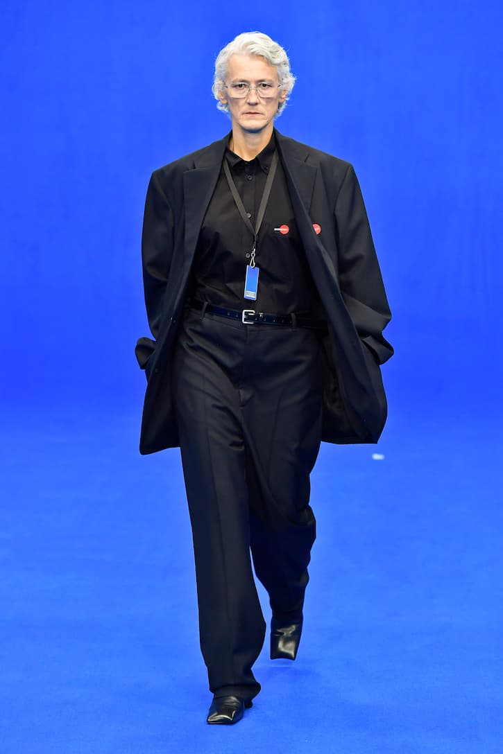 Balenciaga - Uniform wool-blend pants