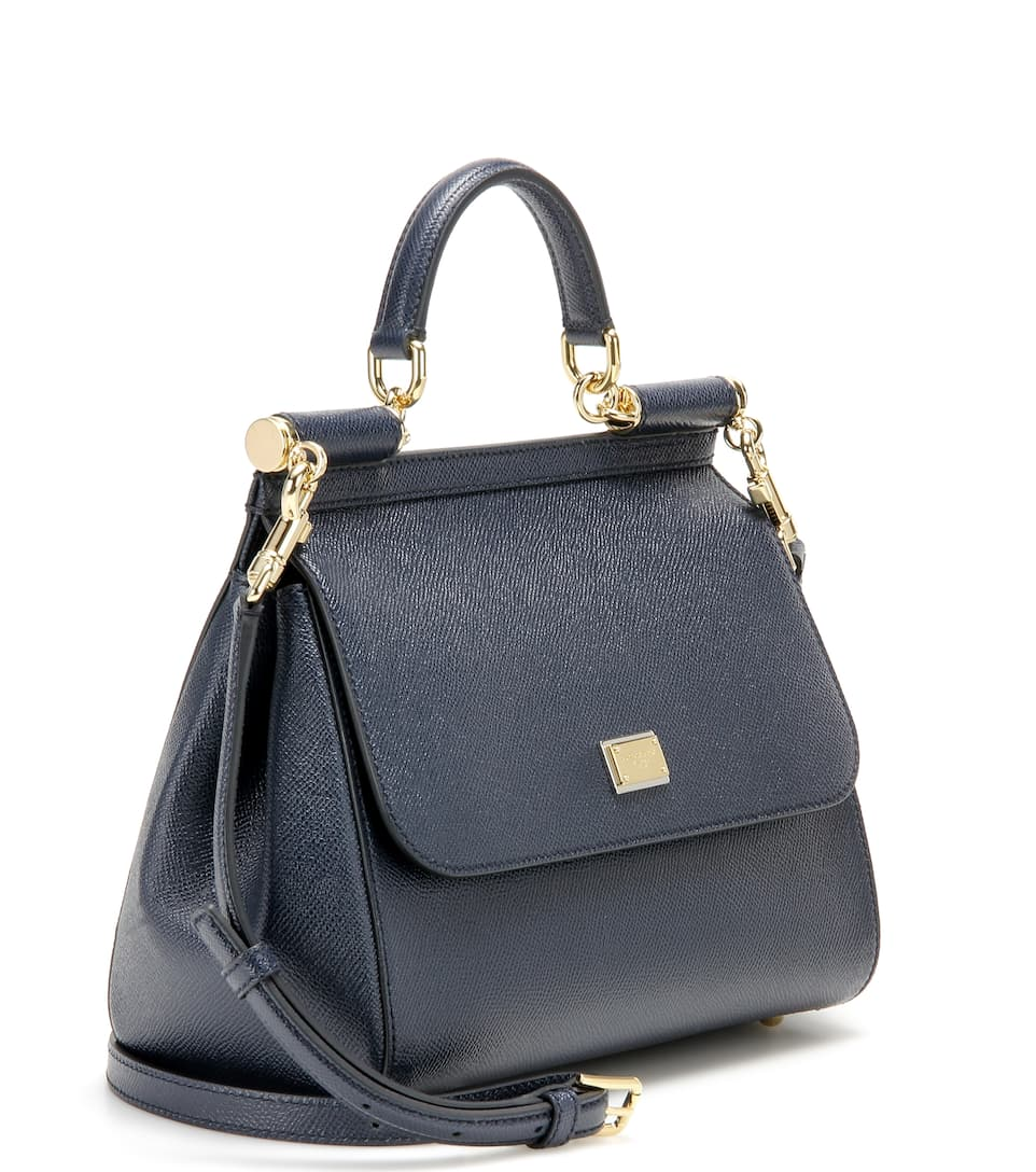 Gabbana amp; piel amp; mediana de 3 Blu Dolce Sicily Bandolera E5UEq